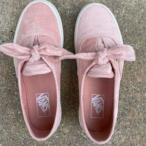 Vans Authentic Velvet Knotted Shoes